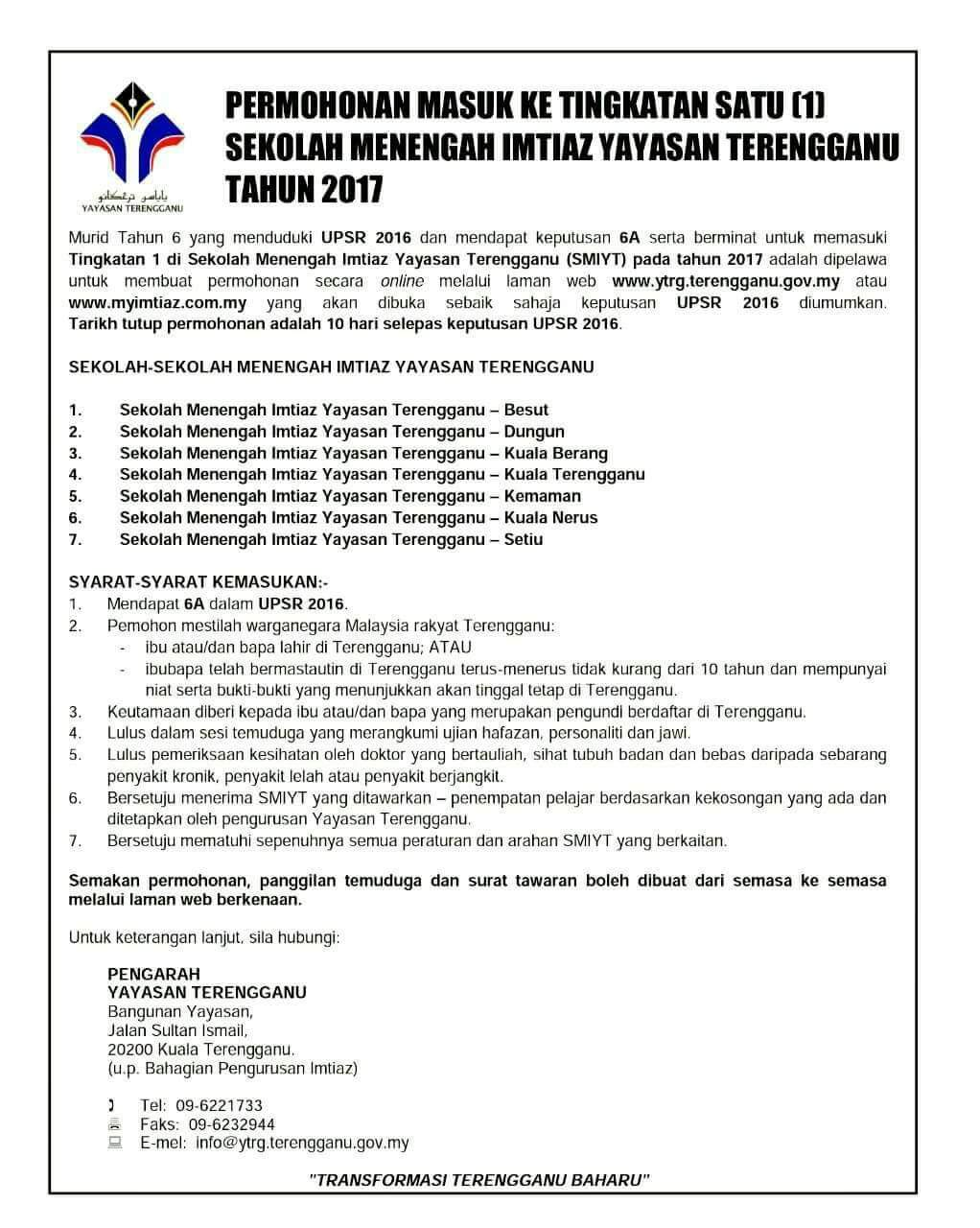 Yayasan Terengganu Semakan Bertanya O