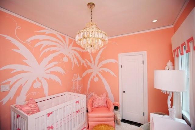 The Glam Pad A Nursery for a Palm Beach Princess