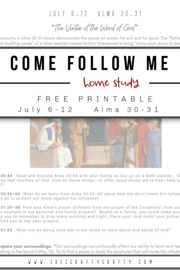 Come Follow Me Home Study printables - easy printable to help your family study Come Follow Me
