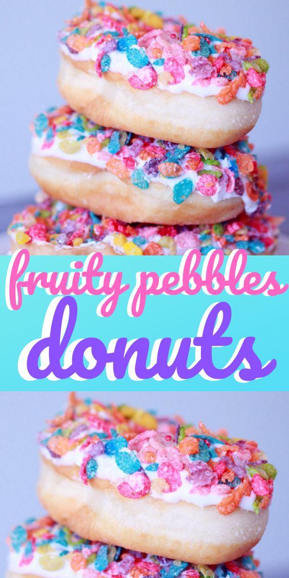 Fruity Pebbles Doughnuts Donuts