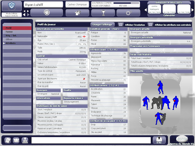 Rugby Union Team Manager 2015 PC Full Version Screenshot 2