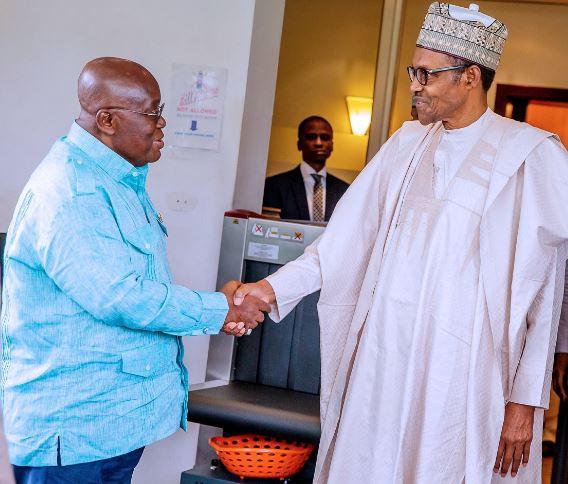 President Nana Akufo-Addo pays courtesy visit to President Buhari