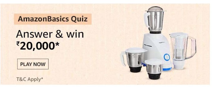 Amazon Basics Quiz Answers Win Rs.20000 Pay Balance