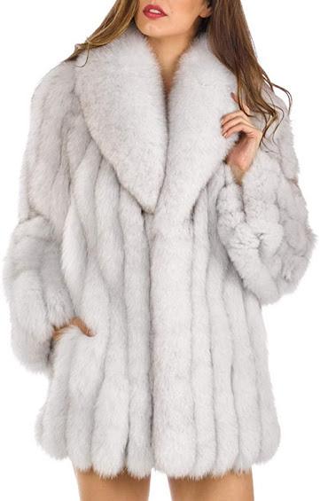 Plus Size Faux Fur Coats Jackets for Women