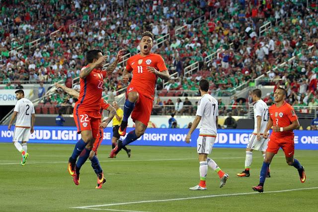 México y Chile en Copa América Centenario, 18 de junio de 2016