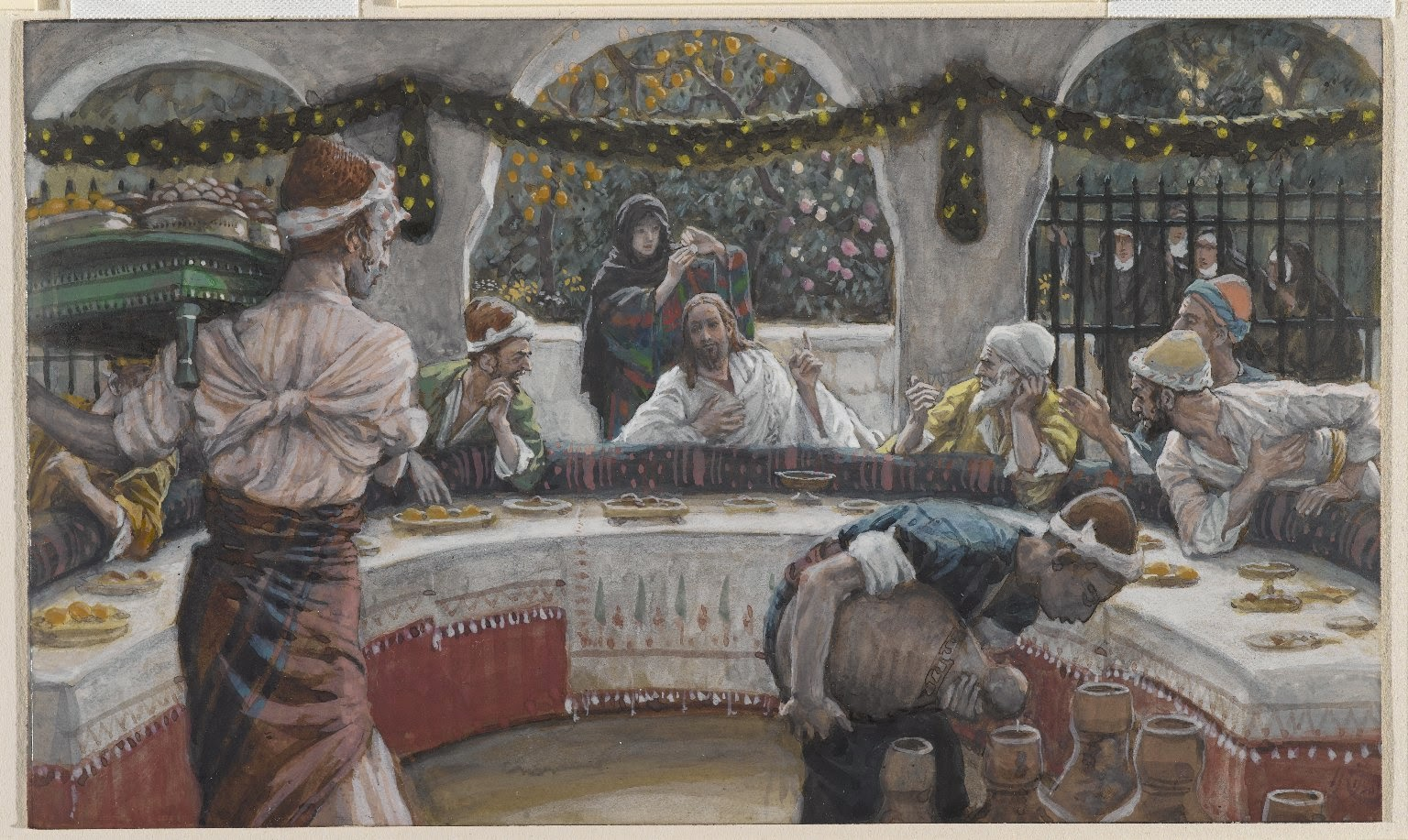 """The Meal in the House of the Pharisee"" -- by James Tissot"