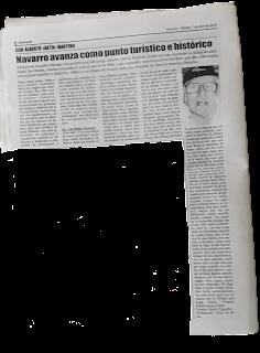 El ultimo pasaje en el diario Amanecer de Navarro