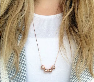 Blush & Co, rose gold, necklace, jewellery