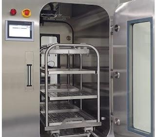 Pass box lớn đưa bao bì vào phòng sạch cấp B (GMP)