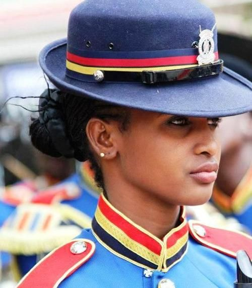 Cute and beautiful police officer in Kenya photo
