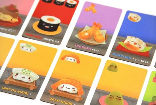 Cartas del juego Sushi Go!
