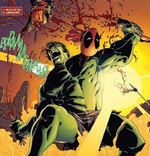 Deadpool intenta matar a Hulk