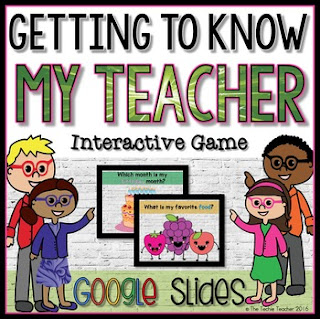 Getting to Know My Teacher Interactive Game