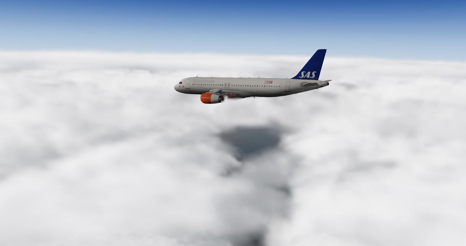 X-Plane, OMSI & EM4 skins: Airbus 320 - Scandinavian Airlines SAS