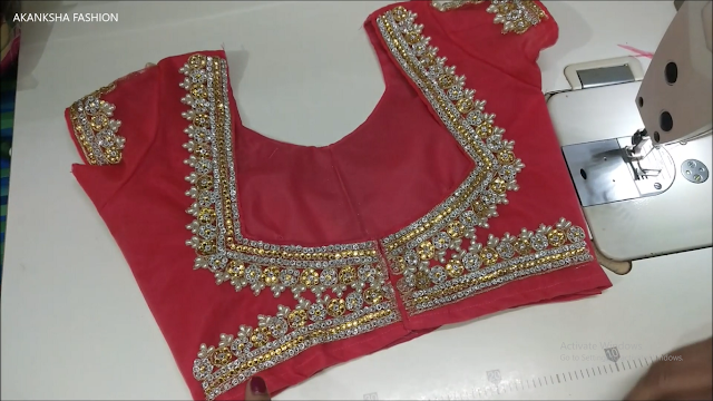 new Lehenga blouse front design cutting and stitching