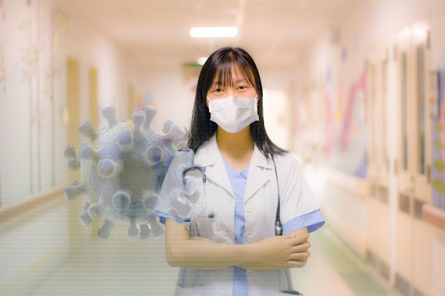 Corona Virus woman face maks