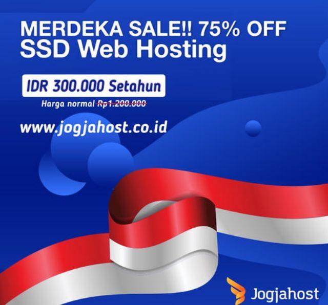 Promo Hosting Jogjahost 17 Agustus 2021