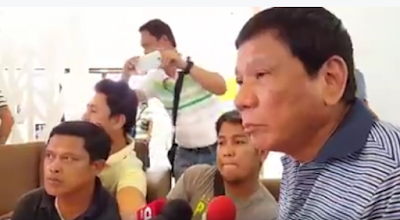 Mayor Duterte eagerly listening to questions during an interview