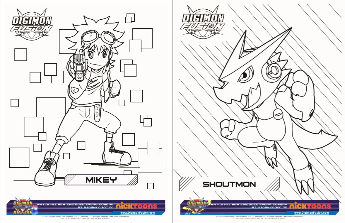 new digimon coloring pages - photo#20