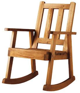 mecedora madera rustica
