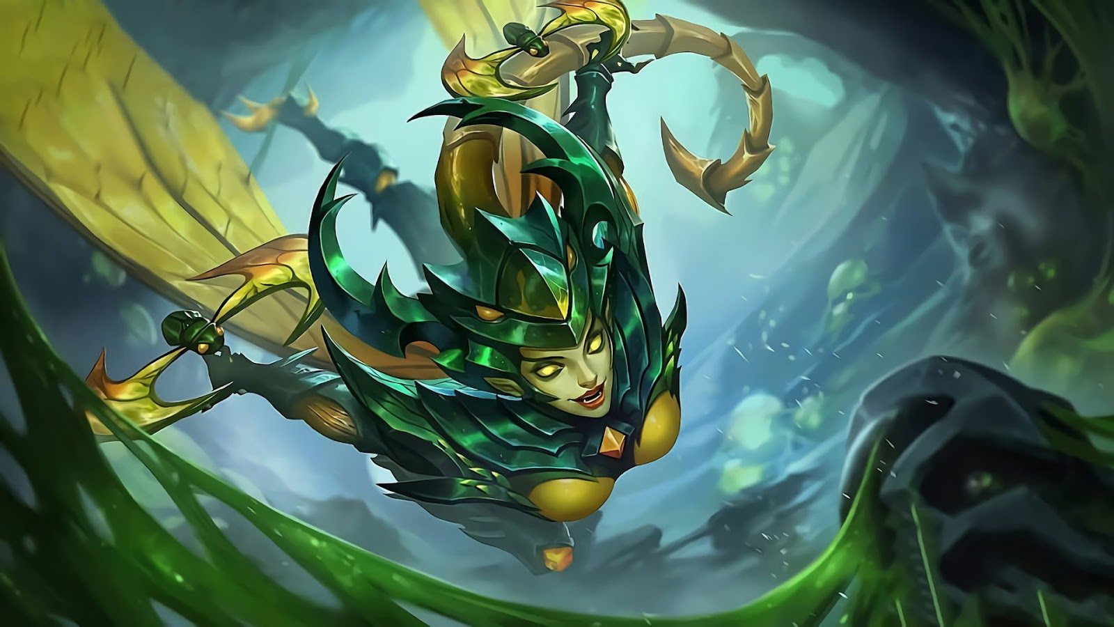 Wallpaper Karrie Bladed Mantis Skin Mobile Legends HD for PC
