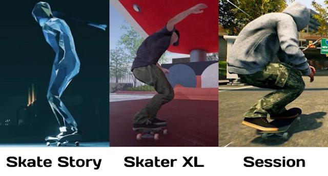 Skate Story vs Skater XL vs Session Camera