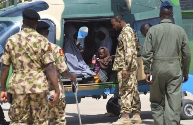 naf rescues boko haram captives sambisa forest