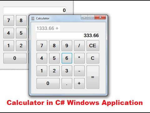 Make Calculater in C# Source code
