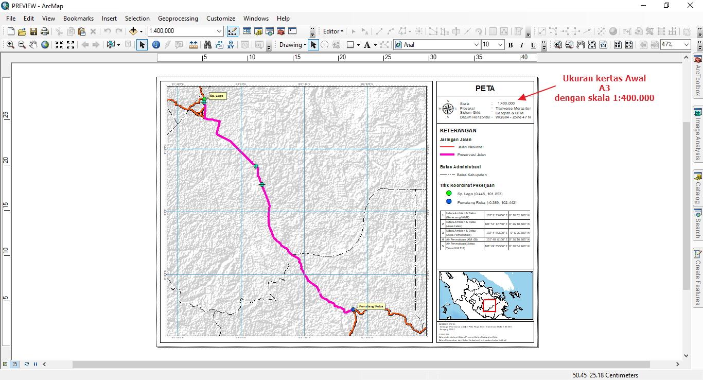 Cara Merubah Ukuran Kertas Layout Tanpa Merusak Elemen Peta