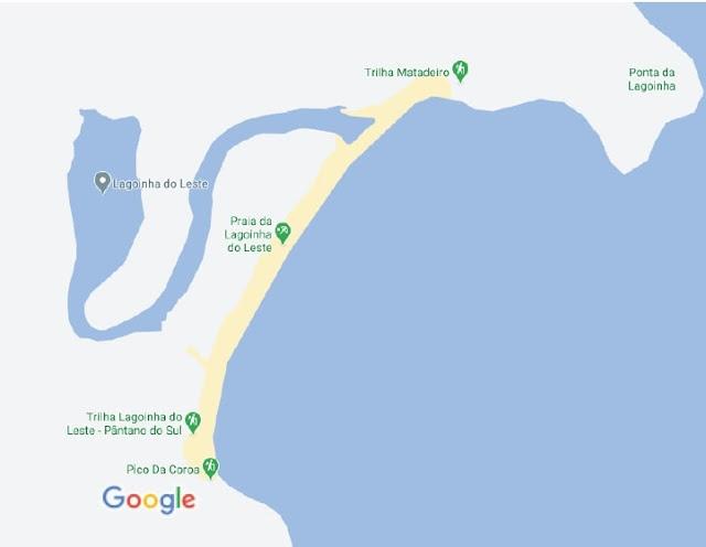 google maps da trilha da lagoinha do leste