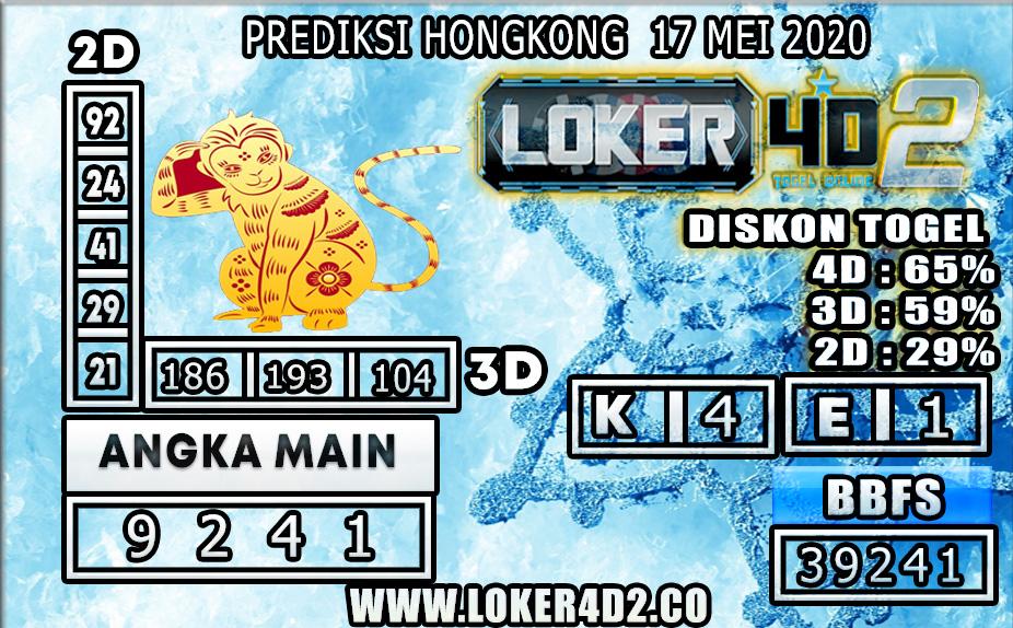 PREDIKSI TOGEL HONGKONG LOKER4D2 17 MEI 2020