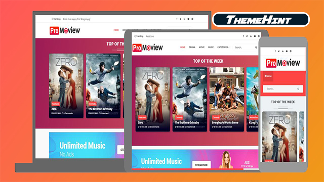 Moview Premium Blogger Template Free Download by ThemeHint