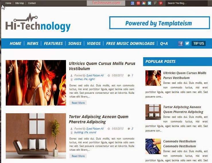 Hi-Technology Free Blogger Template
