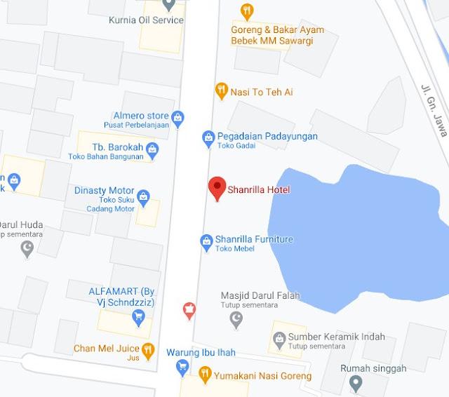 Map Letak Hotel Shanrilla Tasikmalaya