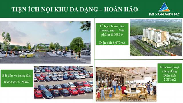 Hình ảnh tổng quan tiện ích nội khu Bãi đậu xe, nhà sinh hoạt, văn phòng thuộc dự án Uông Bí New City - Yên Thanh Quảng Ninh