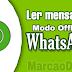 Ler Mensagem Modo Offline WhatsApp