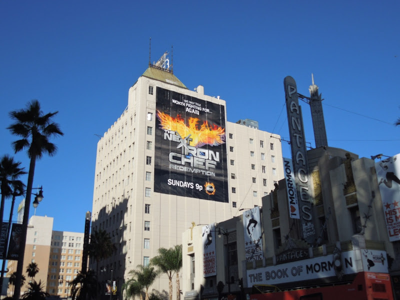 Next Iron Chef Redemption billboard Hollywood Boulevard