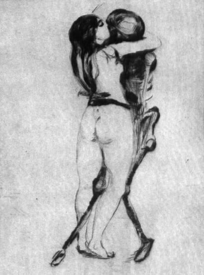 Эдвард Мунк - Девушка и смерть. 1894