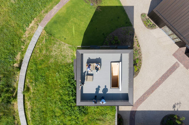 Villa Vught is a small private residence designed by Mecanoo and built in 2019 in the countryside, near the town of Vught, North Brabant Province, the Netherlands.