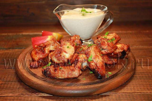 рецепт куриных крылышек в кисло-сладкой глазури