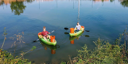 Summer Kayak Cleanups at Four Mile Run