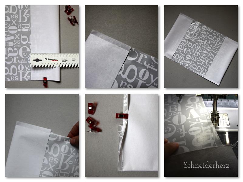 Schulbucheinband aus Wachstuch selbst genäht