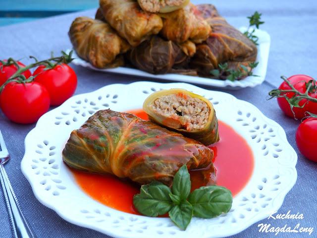 Gołąbki jaglane z mięsem