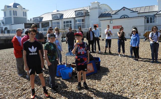 southsea beach clean team surfers against sewage