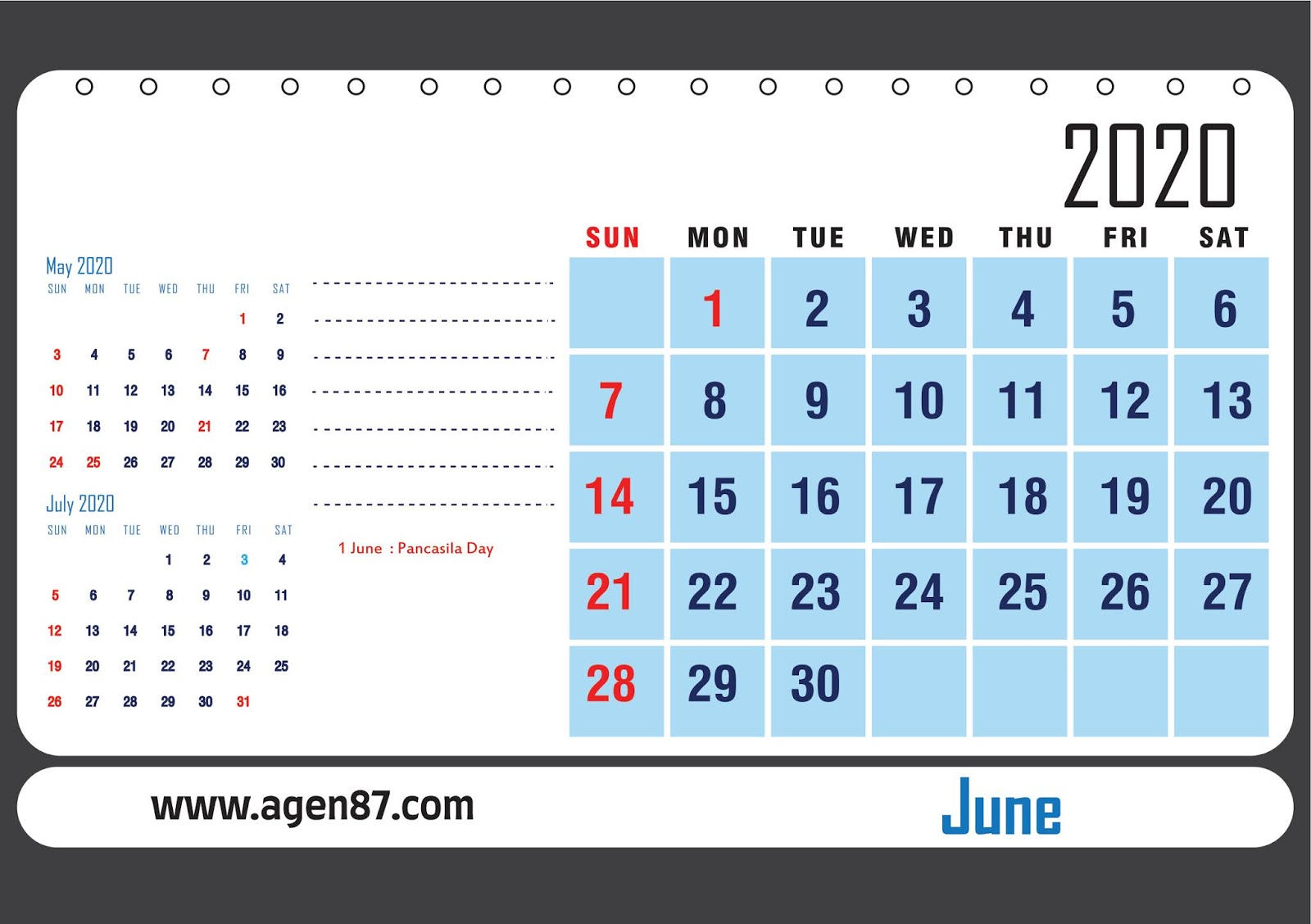 Template Desain Kalender Meja Tahun 2020 - Cocok Buat ...