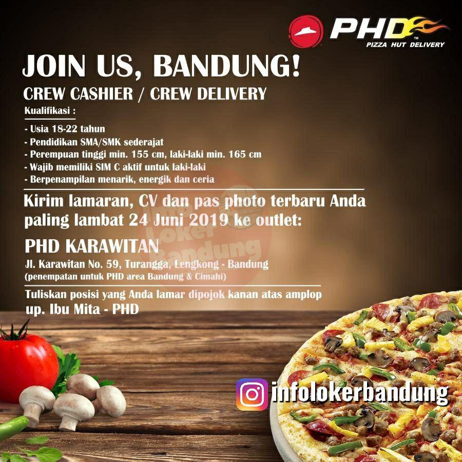 Lowongan Kerja Pizza Hut Delivery (PHD) Karawitan Bandung Juni 2019