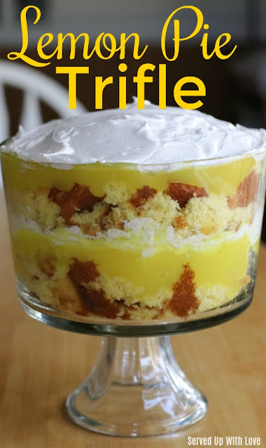 Lemon Pie Trifle from Served Up With Love is a super easy dessert to whip up for any gathering that will wow your guests.