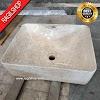 Wastafel marmer tulungagung kotak plus lubang kran asli batualam