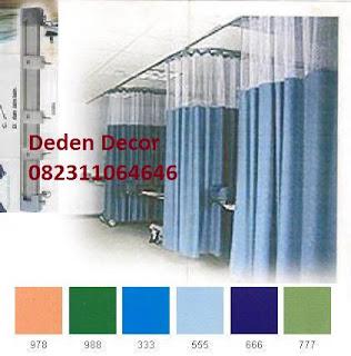 bahan gorden rumah sakit plastik anti bakteri deden decor