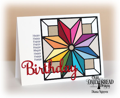 Diana Nguyen, Our Daily Bread Designs, Star, Quilt, Birthday